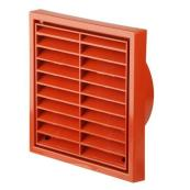 Square Grill 140mm Terracotta
