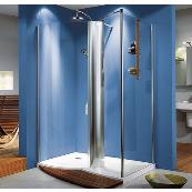 HSK Walk In Column Shower Tray 1400mm Right Hand