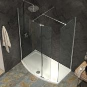 Ultimate 2 Wetroom Curved Panel 1000mm