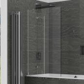 Kudos Inspire 2 Panel 8mm Out-Swing Bath Screen 950mm Left Hand