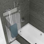 Kudos Inspire 2 Panel 8mm Out-Swing Bath Screen & Rail 950mm Left Hand