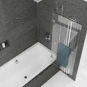 Kudos Inspire 2 Panel 8mm Out-Swing Bath Screen & Rail 950mm Right Hand