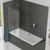 Inspire 2 Panel In Fold Bath Screen 875mm Left Hand