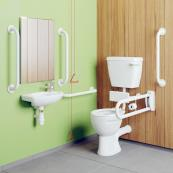 Doc M Low Level Lever WC With White Rails