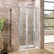 Oceana Crystal 6mm Bifold Door 1100mm with Crystal Clear Glass