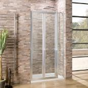 Oceana Crystal 6mm Bifold Door 1200mm with Crystal Clear Glass