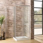 Oceana Crystal 6mm Corner Entry 800 x 800mm with Crystal Clear Glass