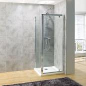 Oceana Platinum 8mm Hinged Door 760mm with Crystal Clear Glass