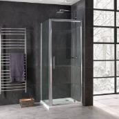 Oceana Emerald 8mm Pivot Door 900mm