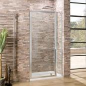 Oceana Crystal 6mm Hinged Pivot Door 1100mm with Crystal Clear Glass