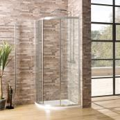 Oceana Crystal 6mm Quadrant Door 800 x 800mm with Crystal Clear Glass