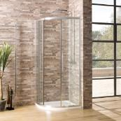Oceana Crystal 6mm Quadrant Door 900 x 900mm with Crystal Clear Glass