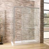 Oceana Crystal 6mm Sliding Door 1300mm with Crystal Clear Glass