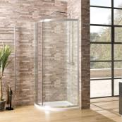Oceana Crystal 6mm Single Quadrant Door 900 x 900mm with Crystal Clear Glass