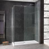 Emerald 8mm Wetroom Glass Panel 600mm Inc Stabilising Bar