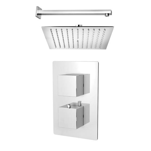 STBCV2K1 - Blox Twin Concealed Thermostatic Shower Valve with Shower