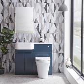 Match Combination Unit & Basin Oxford Blue 1000mm Left Hand