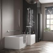 Bathe Easy Solarna Walk In Shower Bath 1700x700mm LH