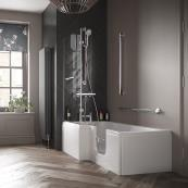 Bathe Easy Solarna Walk In Shower Bath 1700x700mm RH