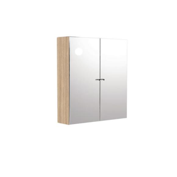 Usdwcno7 Source Double Door Mirror Cabinet Natural Oak